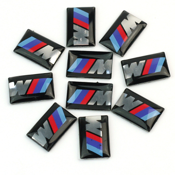 Harga 10pcs Self-Adhesive M Tec Sport BADGE STICKER EMBLEM fits BMW M3 M5 M6 Wheel New - Intl
