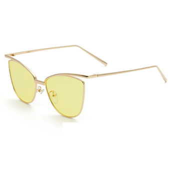 Harga Sunglasses Women Cat Eye Retro Yellow Color Polaroid Lens Titanium Frame Driver Sunglasses Brand Design Original Box Women Oculos