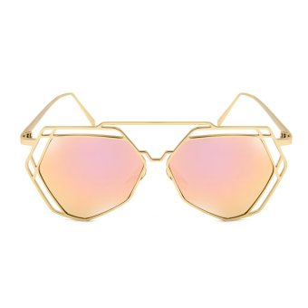 Maldives 1641-14-Y Cool Kylie Metal Outline Design Aviator Sunglasses (Pink/Gold) Price Philippines