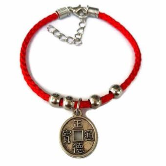 Harga Be Lucky Charms Feng Shui Thread Adjustable Lucky I-Ching Coin
