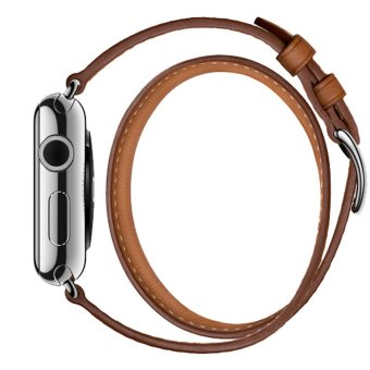GAKTAI Leather Band Double Tour Bracelet Watch Band Strap For Apple iWatch 42MM Price Philippines