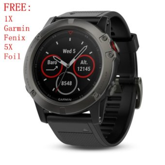 Garmin Fenix 5X Sapphire Multisport GPS Watch with Mapping Wrist HR Slate Gray - intl Price Philippines