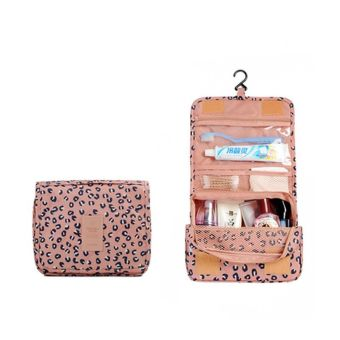 Travel Cosmetic Bag Waterproof Makeup Bags Organizer Women Cosmetic Cases Beauty Bag Lady Cosmetic Bags Pink Leopard Print Price Philippines