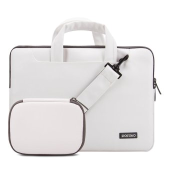 Harga POFOKO 11.6 inch PU Laptop Carrying Case / Shoulder Messenger Bag, White (Intl)
