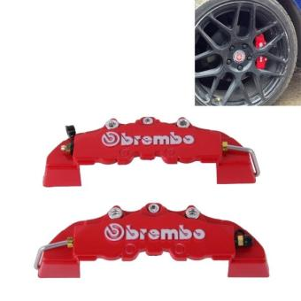 2 PCS Brembo High Performance Brake Decoration Caliper Cover Small Size(Red) - intl Price Philippines