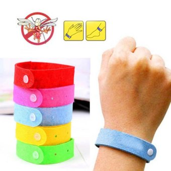 Harga Moonar Bug repellent bracelet, anti mosquito wristband, 5pcs - intl