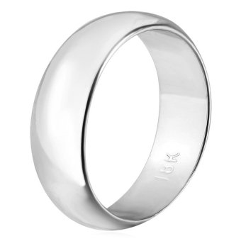 U7 Classic Simple 8MM Band Rings for Women/Men Platinum Plated Wedding Jewelry Couple Rings (Platinum) - INTL Price Philippines
