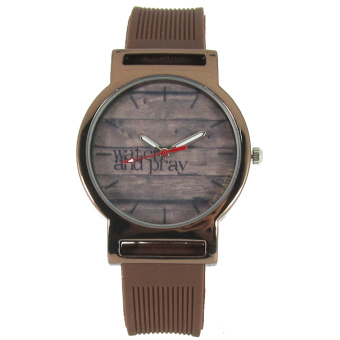 PIC Watch Watch and Pray Brown Silicone Strap Watch Price Philippines