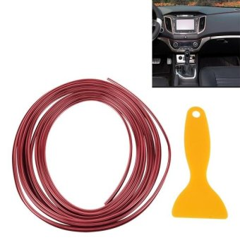3M Flexible Trim For DIY Automobile Car Interior Exterior Moulding Trim Decorative Line Strip With Film Scraper(Red) - intl Price Philippines