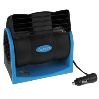 HX-T301 DC 12V 7W 2-Speed Adjustable Silent Blower Car Cooling Air Fan (Black + Blue) - intl Price Philippines