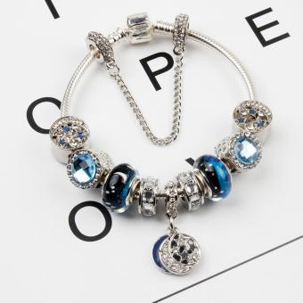 Harga Keira Model by Joanne Collection - 2017 Charm Bracelet Fashion Bracelet (Contemporary and Elegant) Silver with Blue accent