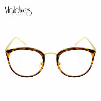 Maldives 3418 Nyla Fashion Classic Round Frame Eyeglasses(Clear Lens/Leopard) Price Philippines