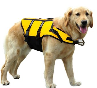 Harga EOZY Professional Pet Dog Life Jacket Puppy Safety Boating Float Life Vest Saver-L (Yellow)
