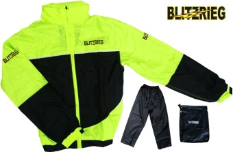 Blitzkrieg® MJ-Series MJ-55 Motorcycle Ultra Durable RainCoat & Jacket Set With Pants Touring (Neon Green) Price Philippines