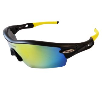 Harga Fury Rivbos 0805 Multi Lens Sports Sunglasses (Black / Yellow)