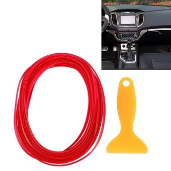 5m Flexible Trim For DIY Automobile Car Interior Moulding Trim Decorative Line Strip With Film Scraper(Red) - intl Price Philippines