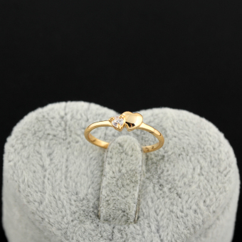 Harga EOZY Never Fade 18K Gold Plated Copper Zircon Ring (golden)