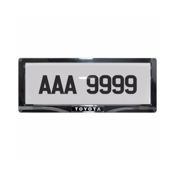 Harga Deflector Vehicle License Plate Cover Protector for NEW License Plates Convex Center for Toyota DLP-8019-C-TO