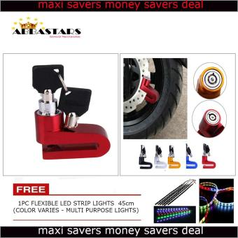 Motorcycle / Bike Anti - Theft Disk Brake Lock Waterproof Wheel Red RotorLock Cylinder for Kawaski Bajaj Rouser 180 Price Philippines
