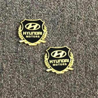 2pcs High Quality 3D Metal Emblem Badge for Hyundai Cars Price Philippines