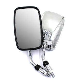 Harga Motor Craze Motorcycle Rectangular Side Mirror (Silver)