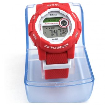 XINJIA Water Resistant Sports Digital Plastic Strap Watch 867 (Red) Price Philippines