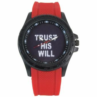Pic Watch Trust His Will Silicon Strap Watch (Red) Price Philippines