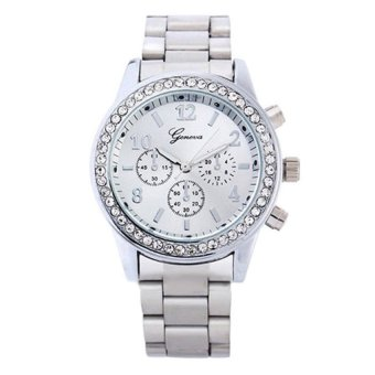OEM Casual Men's Silver Stainless Steel Strap Watch 8462 Price Philippines