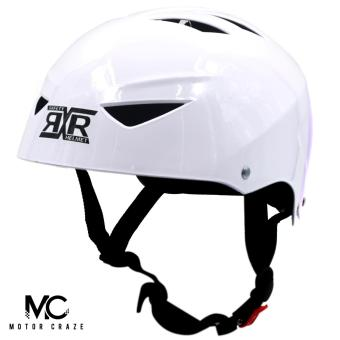 Harga Motor Craze RXR Half Face Crash Safety Plain Passenger Helmet (White)