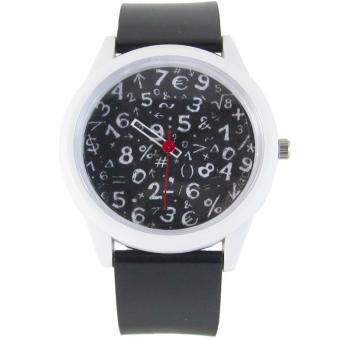 Pic Watch Math Formula Silicon Strap Watch (Black and White) Price Philippines