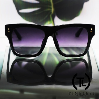Timeless Manila Alie 5673 Retro Squared Sunglasses Shades (Black) Price Philippines