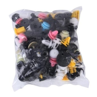 100 PCS Hole Plastic Rivets Fastener Push Clips - intl Price Philippines