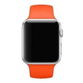 Sport Silicone Bracelet Strap Band For Apple Watch iwatch 38mm (Orange) Price Philippines