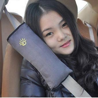 Child Safety Head Rest for Seat Belt - Gray Price Philippines