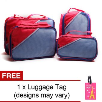 Harga Le Organize 4-in-1 Luggage Organizer with Free Luggage Tag (Pink)