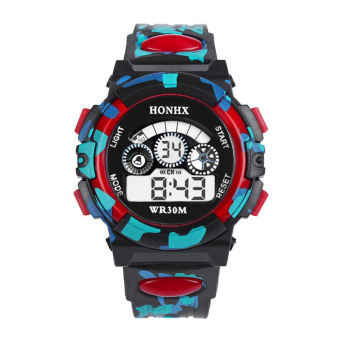 Outdoor Multifunction Waterproof Sports Electronic Watches (Red) Price Philippines