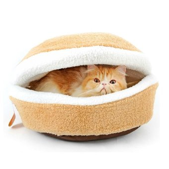 Harga Hamburger Pet Cats Beds Kitty Cat Dogs Litter Shell House(Size:S)