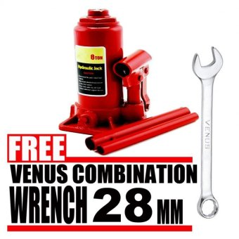 Harga Prostar 10 Ton Hydraulic Jack - Bottle Type (Red) item No.: BJ1001 with Free Venus Combination Wrench 28 mm