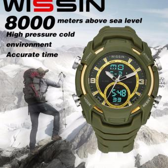 Harga WISSIN-03 the most advanced 50 meters waterproof watch(GREEN)
