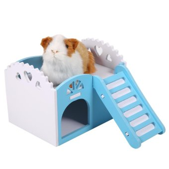 Harga Pet Hamster Mouse Small Animal Castle Sleeping House Exercise Play Toy Blue - intl