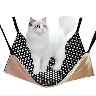 Harga 53cm x 38cm Pet Rat Hammock/ Ferret/ Rabbit/Chinchilla/Cat Cage Hammock Puppy/Cat Bed Cover Pad Mat Blanket Polk Dots