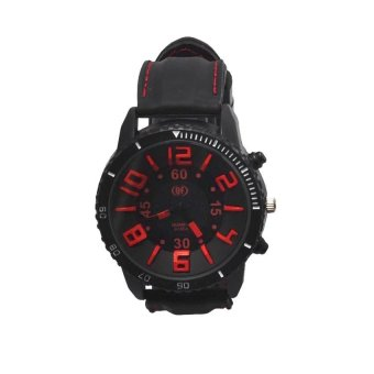 QF 1055 Red Enormous Dial Men's Leather Watch Price Philippines