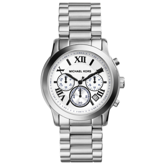 Harga Michael Kors Cooper Silver-tone Stainless Steel Chronograph Watch MK5928
