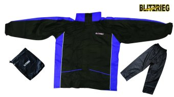 Blitzkrieg® MJ-Series MJ-08 Motorcycle Ultra Durable RainCoat & Jacket Set With Pants Touring (Blue) Price Philippines