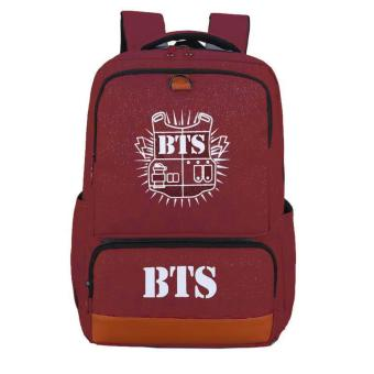 Newest Shop Hong Kong High Fashion BTS Big Size Rucksack Knapsack School Bag (Red) Price Philippines
