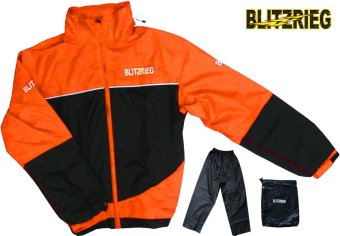 Blitzkrieg® MJ-Series MJ-55 Motorcycle Ultra Durable RainCoat & Jacket Set With Pants Touring (Neon Orange) Price Philippines