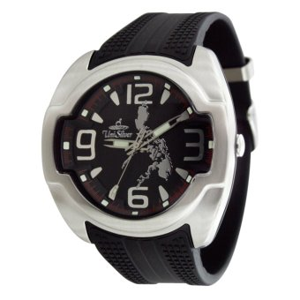 UniSilver TIME Makabayan Dakilang Bayan Men's Analog Rubber Watch KW689-2111 (Black/Silver) Price Philippines