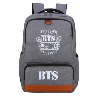 Newest Shop Hong Kong High Fashion BTS Big Size Rucksack Knapsack School Bag (Gray) Price Philippines