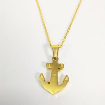 Stainless Steel Anchor Pendant Necklace (Gold) Price Philippines