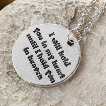 I Will Hold You In My Heart Until I Hold You In Heaven Necklace (Intl) Price Philippines